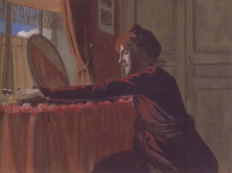 Felix Vallotton Gabrielle Vallotton at her Dressing Table
